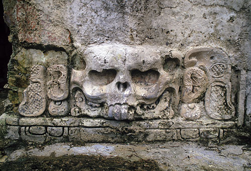 Temple of skulls, palenque