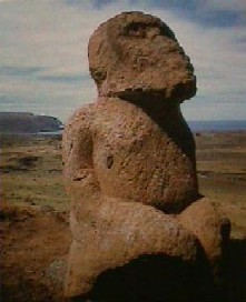 easter island kneeling figure
