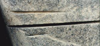 Saw Marks in Granite: Giza, Egypt c. 3,000 BC.