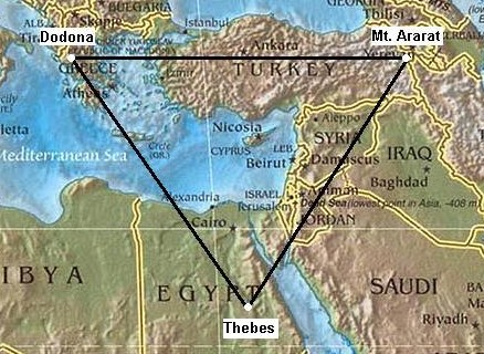 Prehistoric Egyptian Geodesy - Map of egypt latitude and longitude