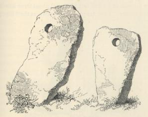Bolleit holed stones.