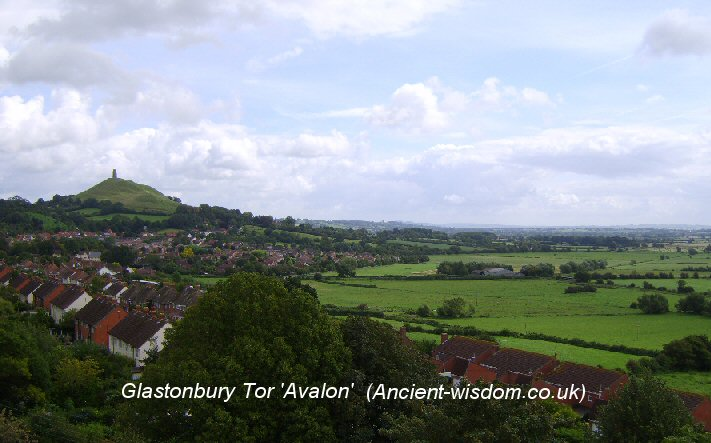 Glastonbury Tor 'Avalon'. (ancient-wisdom.com)