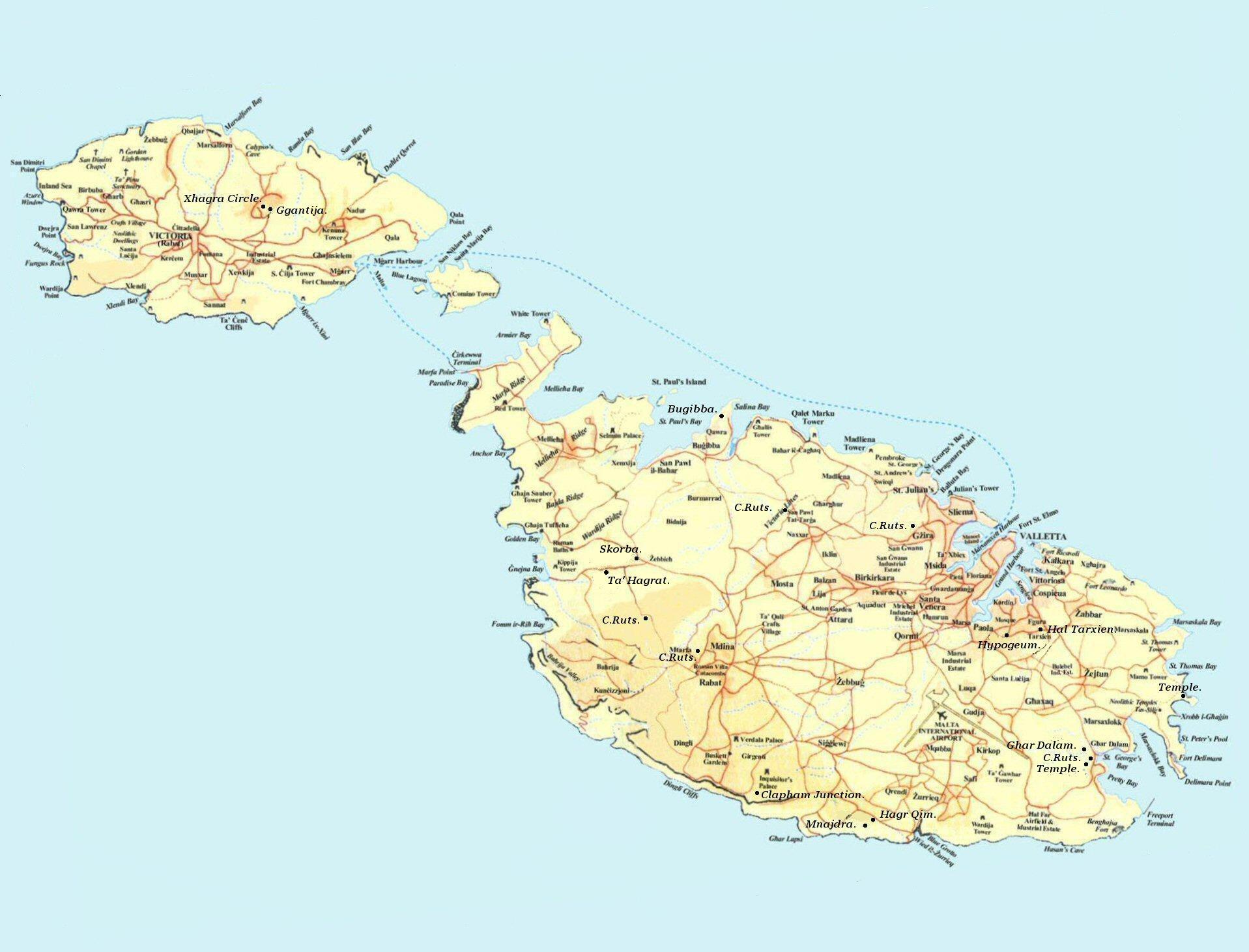 Cartruts Malta - Malta maps with countries