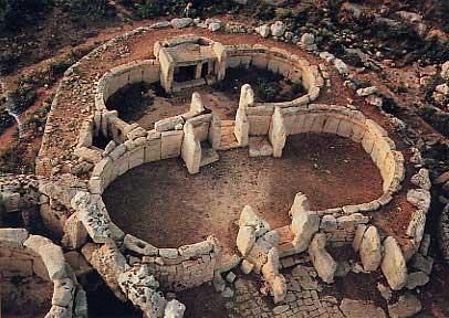 Anta Grande de Zambujeiro: Templegroundplan