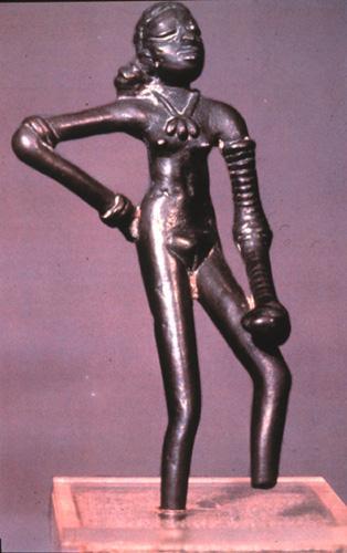 Image result for Bronze female figure, Mohenjodaro, Karachi Museum, Pakistan