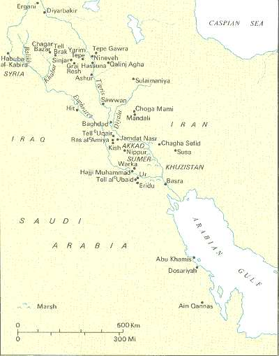 The Sumerians - Map of egypt 3000 bc