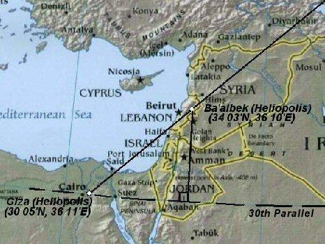 Prehistoric Egyptian Geodesy - Map of egypt heliopolis