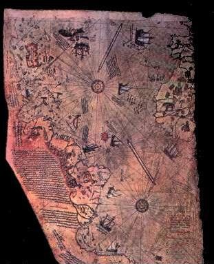 Link to the Piri-reis map and other evidence of prehistoric navigation.